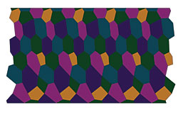 Five Color Lozenge Pattern